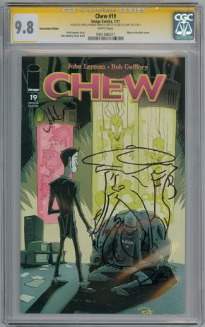 Chew #19 CGC 9.8 Signature Series Signed John Layman Rob Guillory Savoy Sketch Image comic